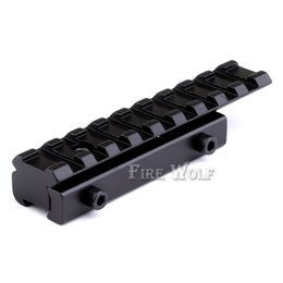 Wholesale Dovetail Rail Extension - Dovetail Extension 11mm to 20mm weaver rail adapter mount free shipping