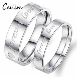 sempre anéis para casais Desconto Romântico Nova Moda Minimalista Banhado A Prata Anéis de Casamento Amor Para Sempre Compromisso Casal Anel Amantes do Coração Presentes de Jóias Por Atacado