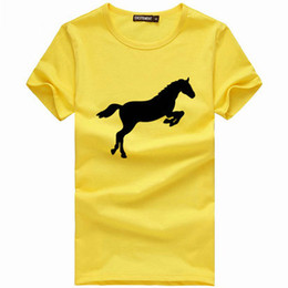 Wholesale Clothes Horse Dryer - Jump horse t shirt Struggle spirit short sleeve gown Nice fighting tees Leisure unisex clothing Quality cotton Tshirt