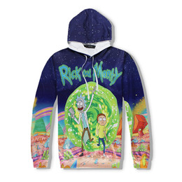 Wholesale Cartoon Sleeves - Rick And Morty Sweatshirt 3D Print Funny Cartoon Hoodie For Men And Women Spring Autumn Size S-2XL
