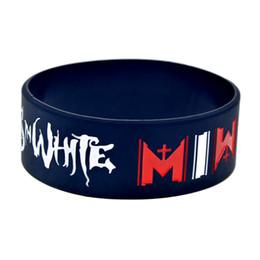 Deutschland Großhandels50PCS / Lot 1 Zoll breites Armband MIW Motionless im weißen Silikon-Armband-vollkommenes Geschenk für Musikfans Versorgung