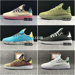Wholesale Pw Black - 2017 New Nmd Human Race Shoes Pharrell Williams PW Boost Women Men Running Tennis HU Primeknit Shoes Sneakers
