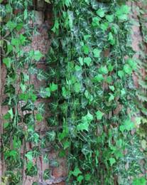 2019 folhas falsas diy 120 pçs / lote Verde Artificial Hera Folha Rattan Guirlanda Plantas Videira Folhagem Falsa Flores Para decoração DIY Frete Grátis folhas falsas diy barato