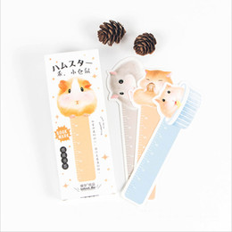 forniture per libri all'ingrosso Sconti Wholesale-30pcs box Cute Kawaii Small hamster Bookmarks Paper Clip For Book Korean Funny Gift Office School Supply Stationery
