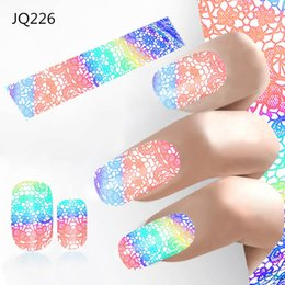 Wholesale Fantasy Decals - New Nail Art Stickers 4*100cm Laser Starry Space Nail Foil Galaxy Fantasy Decals Manicure Pedicure Diy Nails Accessories 2017