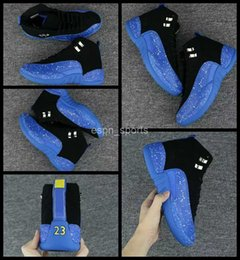 Wholesale Spotted Cotton Fabric - 2017 New Air Retro 12 XII Men Basketball Shoes Blue Black spot Retros 12s Sneakers Mens Basket ball Trainers Sport Shoes us 8-13