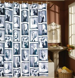 Wholesale Marilyn Monroe Shower Curtains - Wholesale- WaterProof Marilyn Monroe Pattern Home Bathroom Shower Curtain Bathroom Waterproof Mildewproof Polyester Fabric With