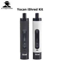 Wholesale Grinder Herbal - Original Yocan iShred Dry Herb Vaporizer Pen Kits 2600mah Battery Ceramic Chamber Built-in Herbal Grinder LCD Screen Vape Pen 2204029