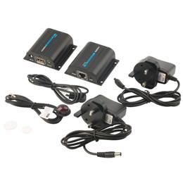Câble réseau hdmi en Ligne-Freeshipping Extendeur de réseau HDMI 60m sur un seul câble avec IR cat6e / 6 3D1080P