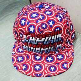 Wholesale Captain Hat Blue - New Cartoon Avengers Captain America Baseball Cap Men Snapback Caps Adjustable Casquette Snapback Hat Casual Hip-Hop Hats