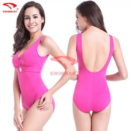 Wholesale covering belly swimsuit - free shipping 2017 Pregnant women big size conjoined swimsuit female conservative cover belly thin fat plus halter high waist bikini