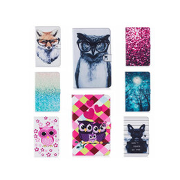 Wholesale Silicon Flowers - Bling Glitter Flower Leather Case For Samsung Galaxy Tab A 10.1 T585 T580 T580N Tree Owl Dog Deer Anchor Dreamcatcher Stand Pouch Soft Cover