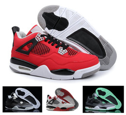 Wholesale Cat Walk Shoes - Retro 4 Basketball Shoes Men Women White Cement Fire Red Fear Black Cat Mens Women Outdoor Sports Walking Shoes US5.5-13