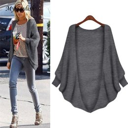 Wholesale Women Sweater Bat Wings - Wholesale- 1PCS Hot New Arrival Fashion Loose Cardigan Sweater Women Long Sleeve Bat-wing Sleeve Tops Coat High Quality Dec 6