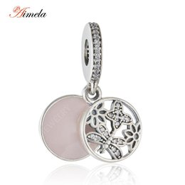 Wholesale Dragonfly 925 Sterling Silver Beads - Wholesale- 2016 Spring New Flower Butterfly Dragonfly Pendants Charms with Enamel 925-Sterling-Silver Fine Jewelry fit beads bracelet DIY