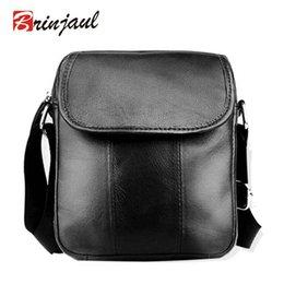 Wholesale Blue Cross Small Business - Wholesale-NEW ARRIVAL Men Small Bag Fashion 100% Genuine Leather Bags Briefcase Business Shoulder Messenger Bags For Men Handbags XP488