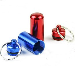 Wholesale Bottles For Medicine - 10pcs lot Mixed colors Cylinder Blank Pet Dog ID Tags for Large dogs, carry-home medicine bottle
