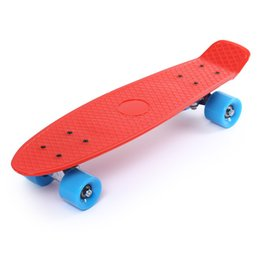 Wholesale Long Skateboard 22 - 22 Inches Four-wheel Street Long Skate Board Mini Cruiser Skateboard With 5 Colors For Adult Children