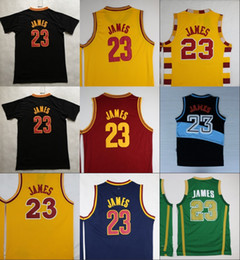Wholesale Mens School - Mens St. Vincent Mary High School Irish 23 LeBron James Jerseys Basketball Shirt Green White LeBron James Stitched Jerseys Cheap S-XXL