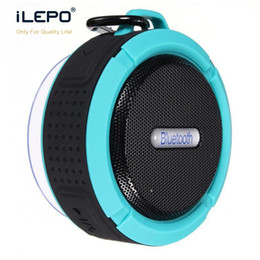 Wholesale Mp3 Usb Charge - Hot C6 Bluetooth Speaker Wireless Waterproof Shower Portable Outdoor Subwoofer HIFI Hook Suction Cup Stereo Bluedio Pulse 3 Charge