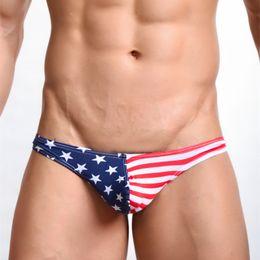 Wholesale Men S Erotic - Sexy Men Striped Gay Underwears Thongs Erotic Seamless Male Thong Men's U Convex G-strings Underpants Size S,M,L,XL