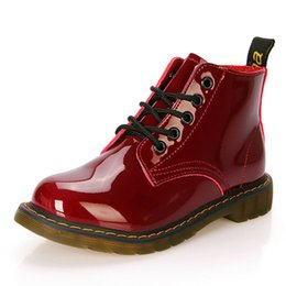 Wholesale Sexy Platform Ankle Boots - Wholesale-Ladies Shoes Women Boots Ankle Boots Platform Buckle Plaid Leather Shoes Zapatos Mujer Fashion Sexy Design for Women ZH284