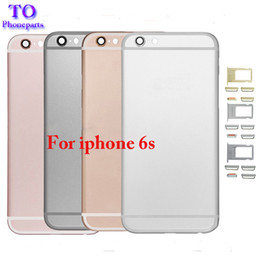 Wholesale Iphone Rear Housing - For iPhone 6S Back Housing Metal Frame Replacement For iPhone 6S Plus Battery Door Cover Rear Cover Chassis Frame Free Shipping