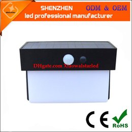Wholesale High Power Led Wall Lamps - high power 5w high bright solar motion light with 5w long work time of solar wall mounting led lamp