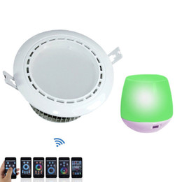 Wholesale Wireless Light Switches - 10PCS RGBW WIFI Wireless Control Flush Mount LED Downlight 110V 220V 240V for Modern Indoor Lights RGB White Lamp + 1pc Mi Light WIFI CE
