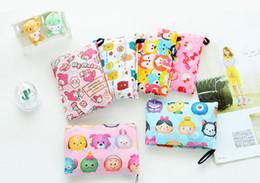 koreanische stickentasche Rabatt Faltbare wasserdichte Lagerung Eco wiederverwendbare Polyester Cartoon Einkaufstasche Taschen Qualität Einkaufstaschen Träger