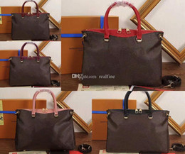 Wholesale Red Interior Trim - Women 40906 Pallas iconic Momogram canvas Shoulder Bag,2 Cowhide Top Handles Leather Trim,4 Bottom Stud,Come with Dust Bag+Box,Free Shipping