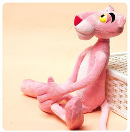 Wholesale Naughty Toys - Wholesale- Cute Naughty Pink Panther Plush Stuffed Doll Toy Child Gift Home Decor 40CM