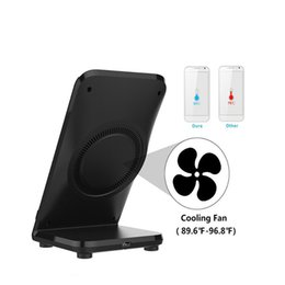 Wholesale Cooling Dock Fan - Qi Fast Wireless Charging Charger Dock stand Fan cooling for Samsung Galaxy S8 S7 S6 edge plus Free shipping
