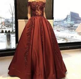 Wholesale Formal Dress Transparent Sleeves - Transparent Burgundy Satin Arabic Evening Dresses 2017 New Capped Sleeves Formal Party Gowns Long Celebrity Prom Dresses Custom Made