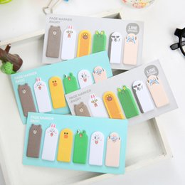 Wholesale Korean Stationery Stickers - Wholesale- Kawaii thumb animal expression Sticky Memo Pad Notes N Times Stickers Memo Flags Bookmark Korean Stationery office supplies