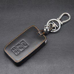 lexus schlüssel fob Rabatt Hochwertige Echtem Leder Autoschlüssel Fob Fall Halter Tasche Für LEXUS ES250 200RX 200 T 350F NX300 3 Tasten