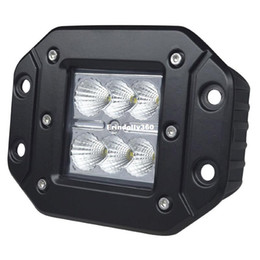 Wholesale Atv Light Switch - 18W IP67 Waterproof LED Work Light Lamp 6 LEDs Fog Headlight for Jeep SUV ATV OffRoad Car DC10-30V Spot Flood