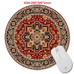 Wholesale Print Laptop - Selling Persian Carpets 3D printing round rubber mouse pad size 200 mm * 200 mm * 2 mm lasting computers and laptops mouse pad