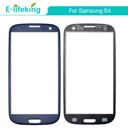 Wholesale replacement glass galaxy s4 - High quality For samsung Galaxy S4 Front Screen assembly cover Glass Lens Replacement Parts black white