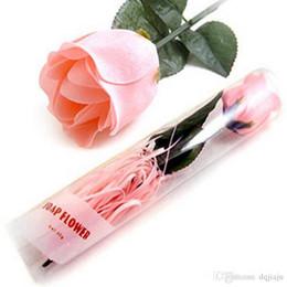 Fleurs de savon simples roses pour les faveurs de mariage pour le cadeau de fête des mères ou la décoration en gros savon DHL livraison gratuite ? partir de fabricateur