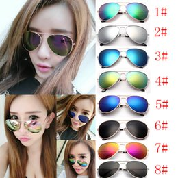 Wholesale Sunglasses Reflective Mirror - Reflective yurt Color film sunglasses Reflective colorful sunglasses Colorful toad mirror Colorful sunglasses Vacation travel bikes8 colors