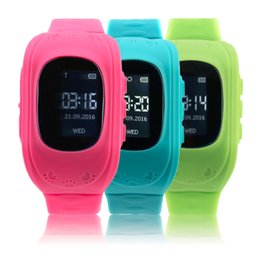 Wholesale Band Positions - Fashion Anti Lost Children Kid Smart GPS Position Rubber Band Wrist Watch Bracelet Electronic Watch Q50 For Android For IOS