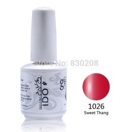 Wholesale Ido Nail Polish - Wholesale- 24pcs IDO BrandNail Gel Polish French nail art Color UV Lamp LED Soak Off French Tips Kit Top Coat Base Coat