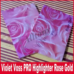 Wholesale Eye Shadow Palette Contour Makeup - Violet Voss Rose Gold 6 Color Highlighter Palette Face Contour Silhouette Highlighter Bronzer Powder Palette Shimmer Eye Shadow Makeup