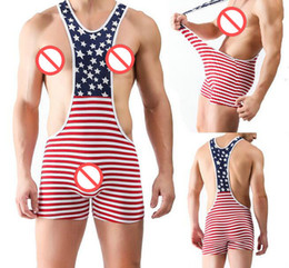 Wholesale Jumpsuits For Men Wholesale - Sales Bulge Soft Wrestling Bodysuit Sexy Mens Stretchy Singlets undershirts Jumpsuit Soft undies for Male Custom made man underpants