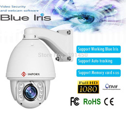 Wholesale Iris Hd - IMPORX Working Blue Iris software camera Hot sell auto tracking PTZ IP Camera HD 1080P high speed Camera support Memory card