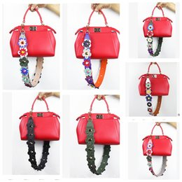 Wholesale Straps For Bag Wholesale - Strap You Bag Handbag Strap Colorful Flowers PU Leather For Peekaboo Hand bag Accessories Slingbag Shoulder Bag Straps LJJK596