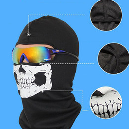 Wholesale Face Shield Protection - Skull Design Ghost Skull Mask Full Face Protection Skull Mask Army Games Outdoor Metal Mesh Eye Shield Costume for Cosplay Beauty Party