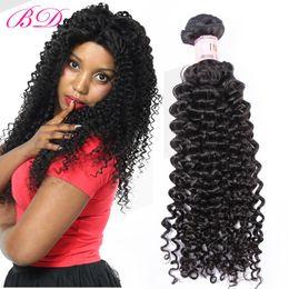 бразильские человеческие волосы афро Скидка BD вьющиеся человеческие волосы расширения афро кудрявый вьющиеся пучки Индийский / малайзийский / перуанский / бразильский 3/4 пучки один комплект