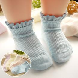 Wholesale Crochet Girl Booties - 2017 Crochet Baby Booties new Children lace Socks girls cotton best Ankle Socks Toddler Newborn Infant Socks kids wear Fashion Korean A348
